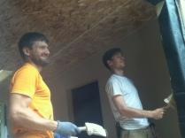 Steve (L) and Matt (R) painting