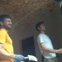Steve (L) and Matt (R) painting