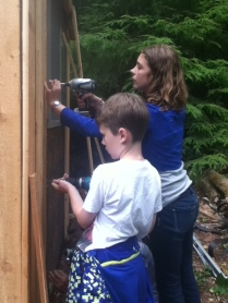 And finish putting on the siding