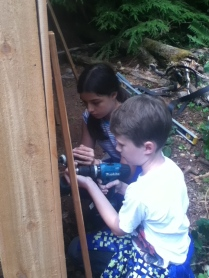 The kids learn how to handle power tools (safely)